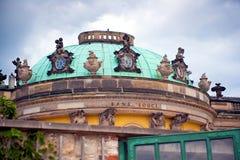 Sanssouci Palace. Facade of Sanssouci Palace in Potsdam, Germany stock photography