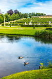 Sanssouci Palace with lake in Potsdam, Germany Royalty Free Stock Images