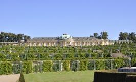 Sanssouci Palace landscape in Potsdam,Germany Royalty Free Stock Image