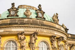 Sanssouci Palace. A park around the Sanssouci Palace in Potsdam Germany is full of villas, palaces and other royal buildings. It is a perfect place for a trip Stock Photos