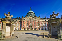 Sanssouci palace in Potsdam. New Sanssouci palace in Potsdam (Unesco world heritage), capital of Brandenburg, in Germany royalty free stock images