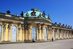 Sanssouci palace in Potsdam Stock Photos