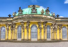 Sanssouci palace in Potsdam, Berlin suburbs, Germany royalty free stock image