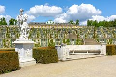 Sanssouci palace in Potsdam, Berlin suburbs, Germany royalty free stock images