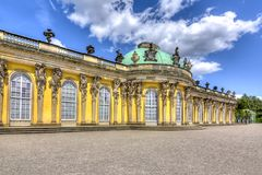 Sanssouci palace in Potsdam, Germany royalty free stock photography