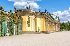 Sanssouci palace in Potsdam, Germany stock photos