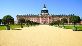 The Sanssouci palace in Potsdam, Germany. Landscape with Sanssouci palace in Potsdam, Germany stock images