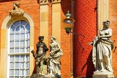 The Sanssouci palace in Potsdam, Germany. Landscape with Sanssouci palace in Potsdam, Germany stock image