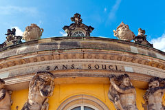 Sanssouci Palace in Potsdam, Germany. Royalty Free Stock Photo