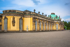 Sanssouci palace, Potsdam (Germany). Sanssouci is the name of the former summer palace of Frederick the Great, King of Prussia, in Potsdam, near Berlin. It is stock photos