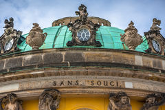 Sanssouci palace, Potsdam (Germany). Sanssouci is the name of the former summer palace of Frederick the Great, King of Prussia, in Potsdam, near Berlin. It is stock images