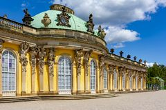 Sanssouci palace in Potsdam, Germany royalty free stock images