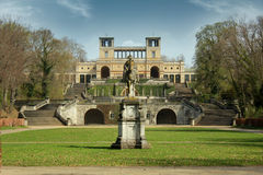 Sanssouci Palace, Potsdam, Germany. View at Schloss Sanssouci Gardens. Potsdam, Germany Royalty Free Stock Images