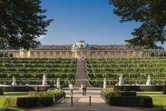 Sanssouci Palace and vine terraces Stock Photos