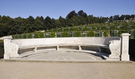 Sanssouci Park Bench in Potsdam,Germany Royalty Free Stock Image