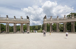 Sanssouci Prusacki pałac Potsdam Niemcy Obrazy Stock