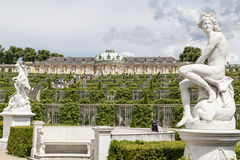 Sanssouci Prussian slottPotsdam Tyskland Arkivfoto