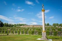 Sanssouci slott i Postdam, Tyskland Arkivbild