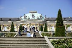 Sanssouci slott i Potsdam Arkivfoton