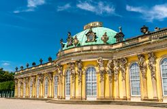 Sanssouci, the summer palace of Frederick the Great, King of Prussia, in Potsdam, Germany. Sanssouci Palace, the summer palace of Frederick the Great, King of royalty free stock photos