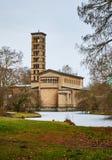Sanssoucipark en de Kerk van Vrede, Potsdam, Duitsland royalty-vrije stock afbeelding
