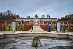Sanssoucipark in Potsdam, Duitsland stock afbeelding