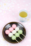 Sansyoku-dango Immagine Stock