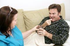 Santé à la maison - pillules Photo libre de droits