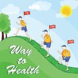santé à la voie Photos stock