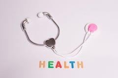 Santé colorée avec le stéthoscope Photos stock