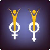 Santé d'hommes et de femmes Photos stock