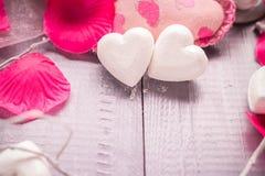 Santé de corps d'amour de coeur de jour de valentines de composition en station thermale Photos libres de droits