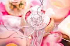 Santé de corps d'amour de coeur de jour de valentines de composition en station thermale Photographie stock