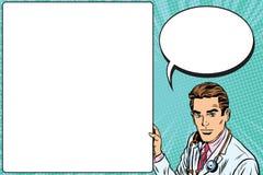 Santé de médecine d'affiche d'annonce de docteur illustration de vecteur