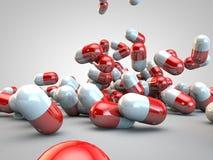 Santé de maladie de médecine de capsules de pilules de pilule image stock