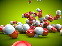 Santé de maladie de médecine de capsules de pilules de pilule illustration stock