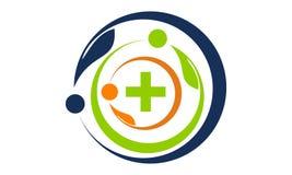 Santé ensemble Logo Design Template illustration libre de droits