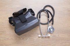 Santé et concept diagnostique de casque de 3d VR Image libre de droits