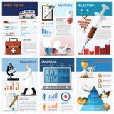 Santé et diagramme de diagramme médical Infographic Photos libres de droits