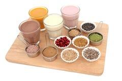 Santé et nourriture de musculation Image stock