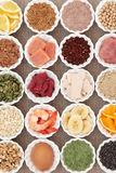 Santé et nourriture de musculation Photo stock