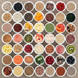 Santé et nourriture de musculation Photo libre de droits