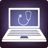 Santé et ordinateur Photographie stock