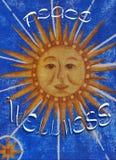 Santé et paix Image libre de droits