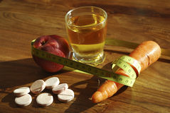 Santé et régime Photos stock