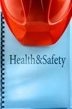 Santé et sécurité avec le casque Image stock