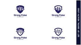 Santé Logo Design Concept, différents types de logos de santé, Logo Design Vector simple Image stock