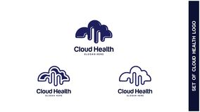 Santé Logo Design Concept, différents types de logos de santé, Logo Design Vector simple Photographie stock