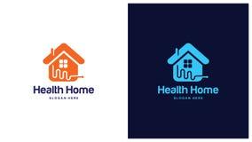 Santé Logo Design Concept, différents types de logos de santé, Logo Design Vector simple Photographie stock libre de droits