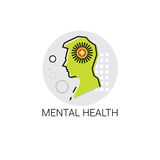 Santé mentale Brain Activity Icon Image stock